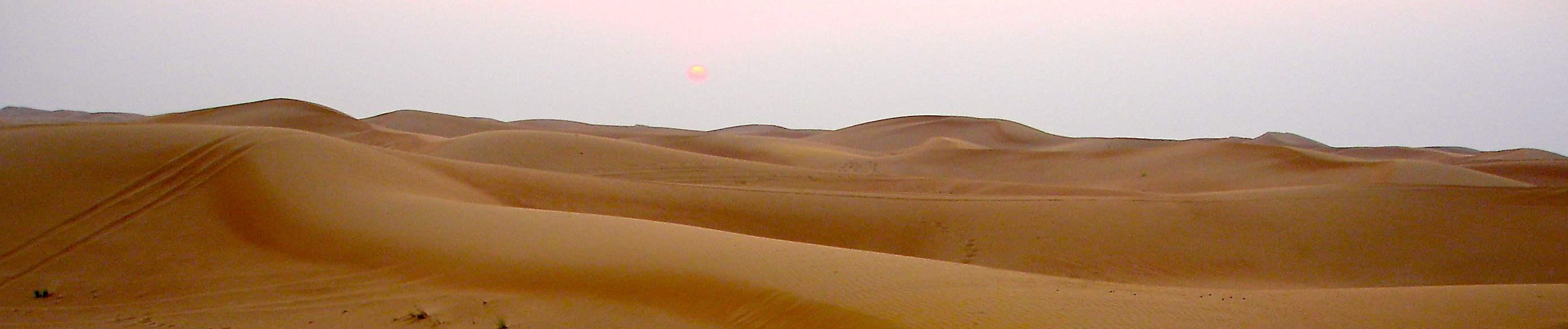 Dubai desert sunset